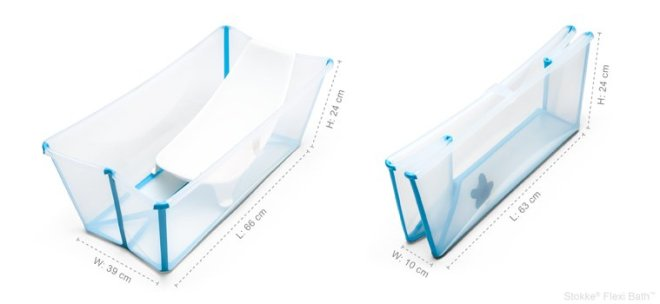 Stokke Flexi Bath with Newborn Support.  Look at how nicely it folds for storage! (image from http://www.babyandbeyondstore.com/en/products/detail.php?id=626)