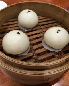 black sesame dim sum at Din Tai Fung