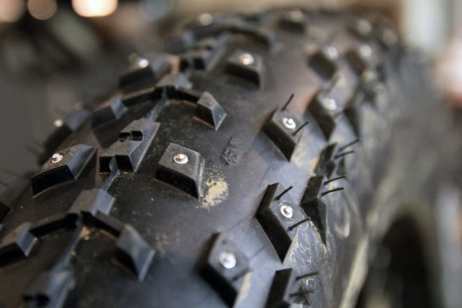 Studed-tire